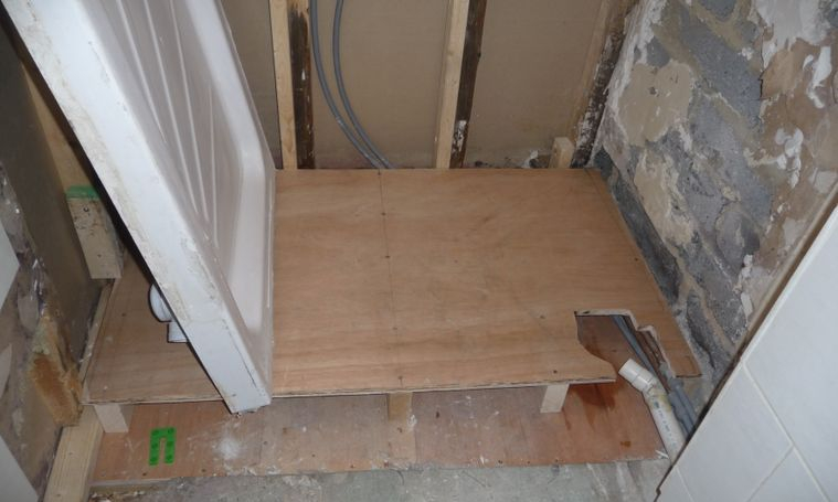 Shower tray frame