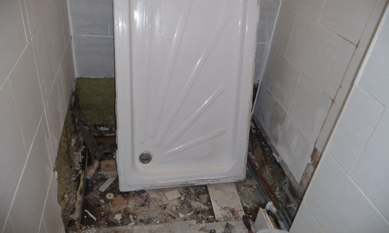 Water damaged shower repair