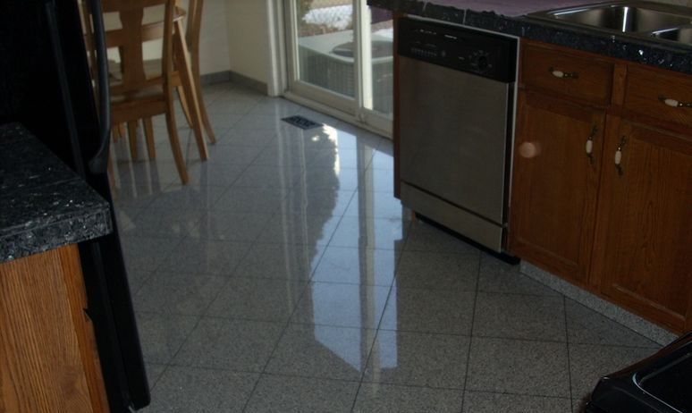 Granite kitchen floor