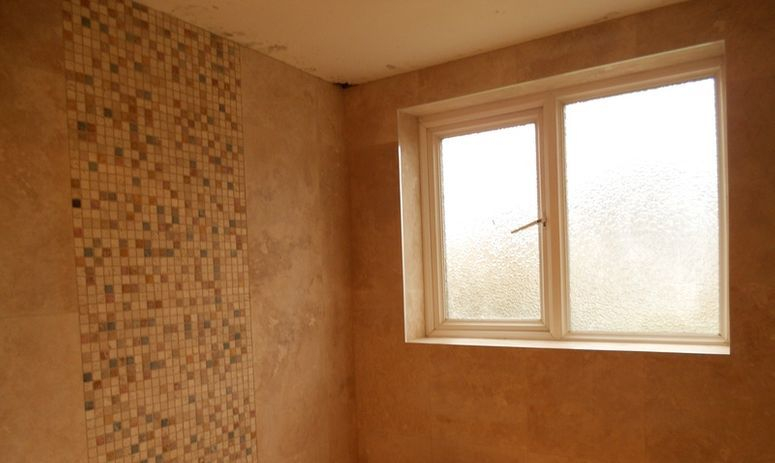 Travertine mosaic tiling