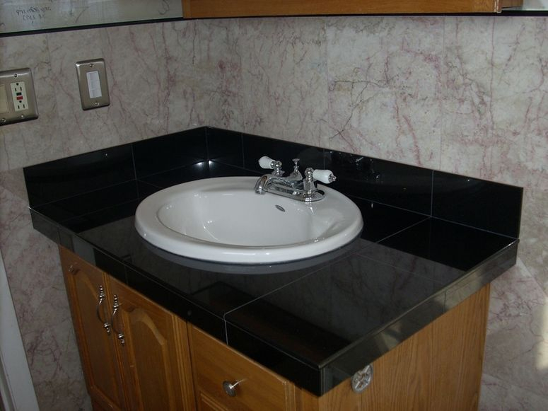 Bullnose granite tile countertop