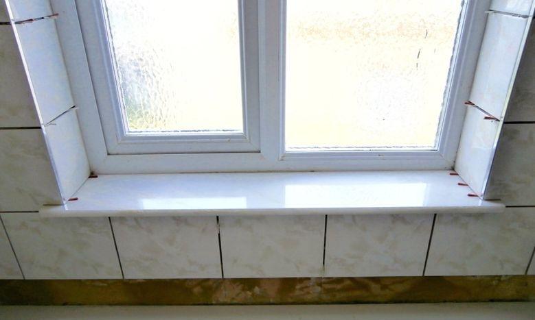 bathroom window-sill