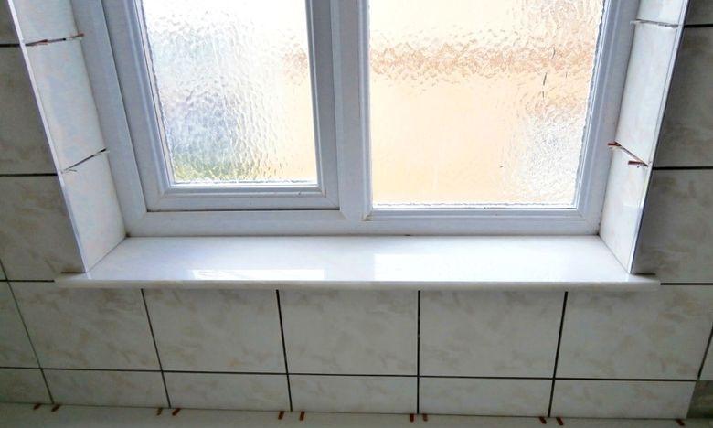 tiled window-sill