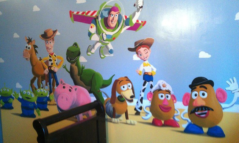 Toy story for Buzz lightyear wall mural