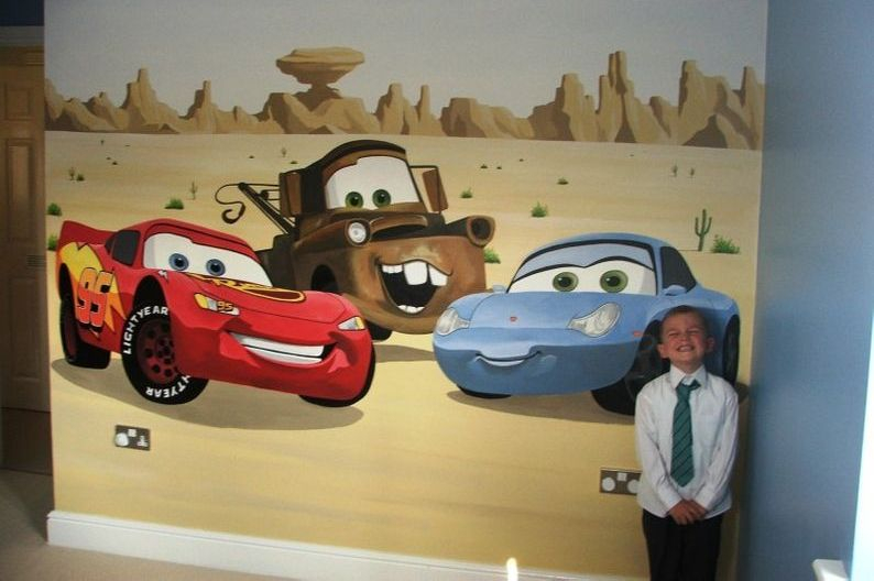 Radiator springs mural for Disney cars mural uk