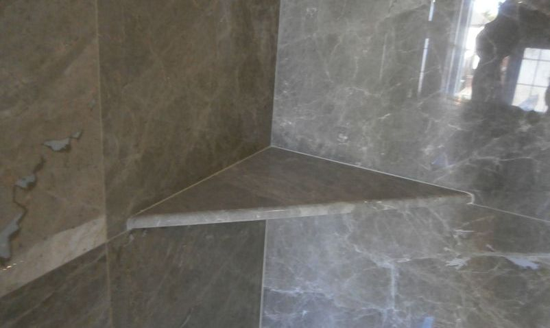 Marble shower shelf