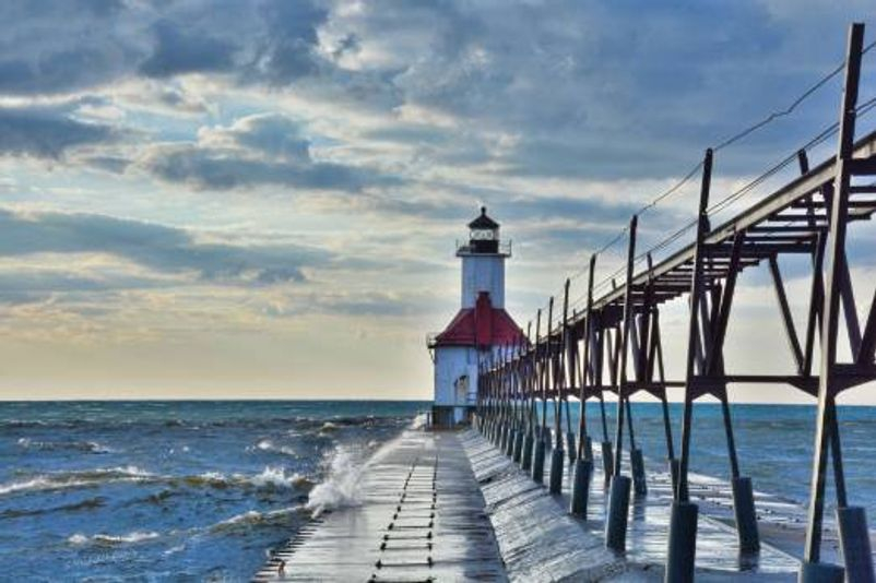 North Pier Lighthouse St. Joseph, Michigan