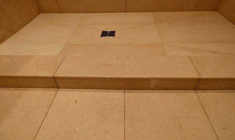 Limestone  shower curb