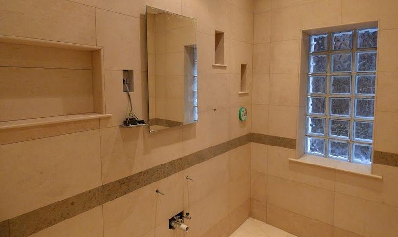 Limestone wall  tiling