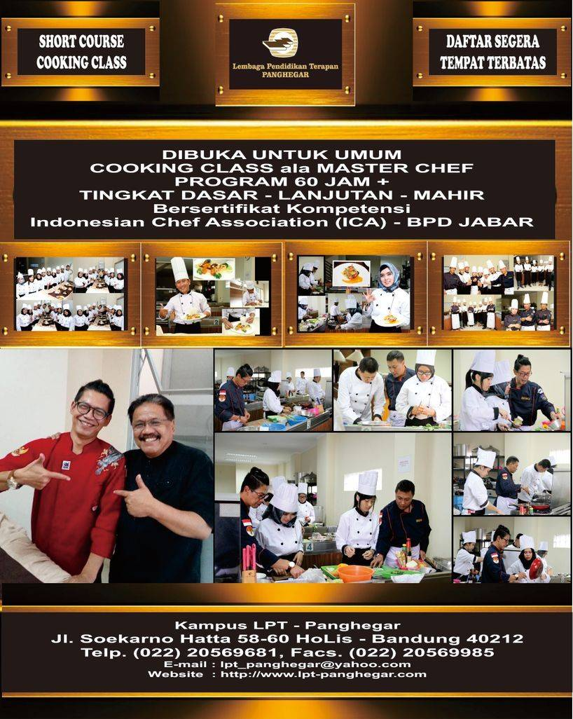 Brosur Cooking Class 2018