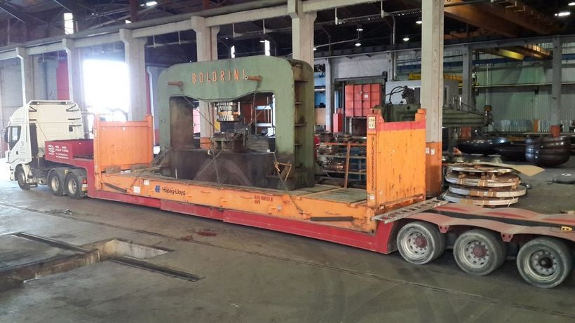 300 Ton x 4800mm Boldrini Hydraulic Dishing Press from Turkey to Mexico