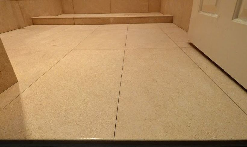 Limestone flooring-bullnose