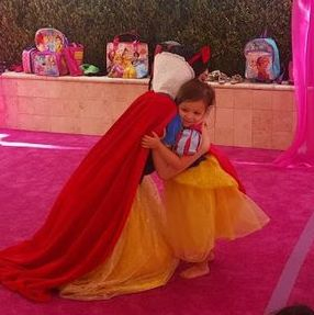 snow white summer camp hug princess birthday party company los angeles