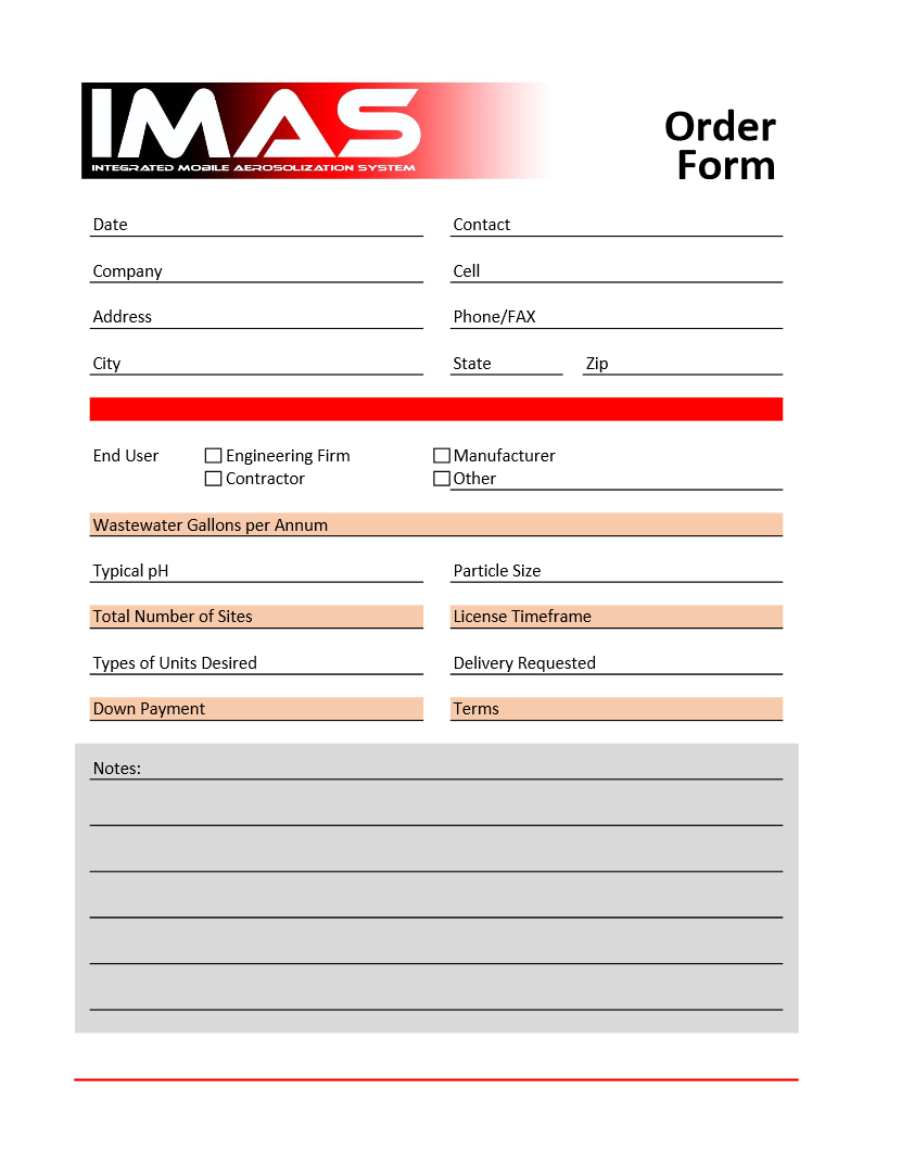 Licensee form for aerosolization