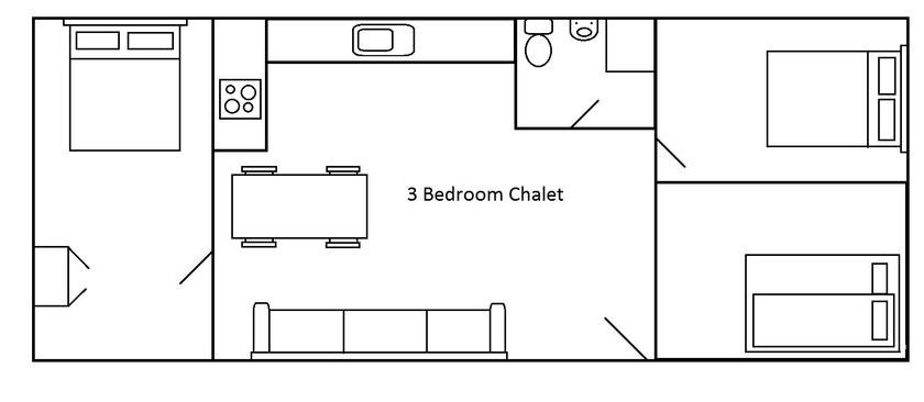 3 Bedroom chalet floor plans