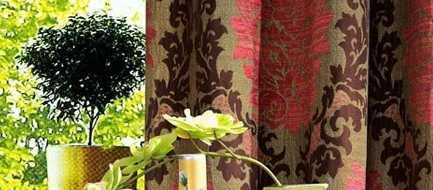 Heavy Textured Blackout Jacquard Curtains Panel with Grommet