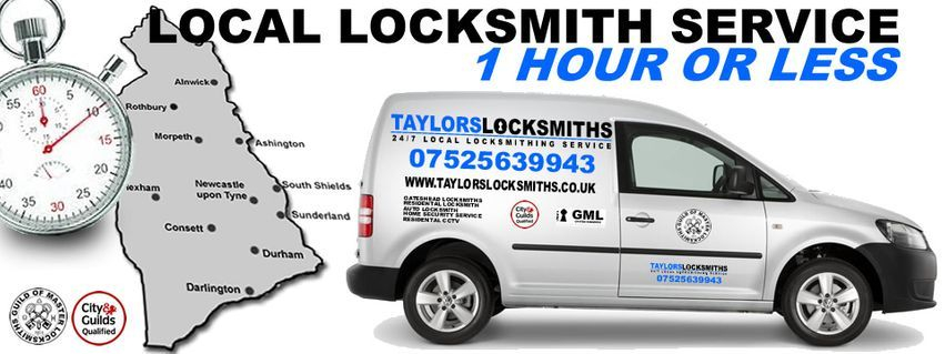24 hour emergency locksmith in gateshead 07525639943