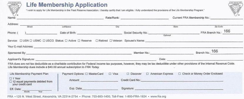 FRA Life Membership