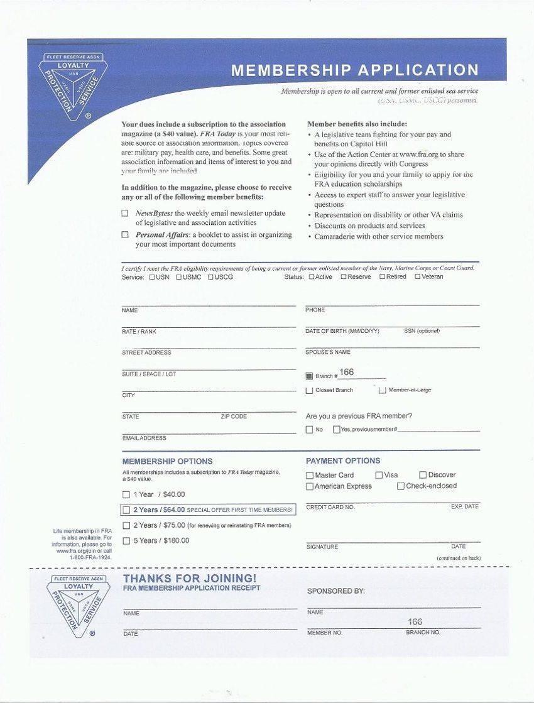 FRA Membership Application