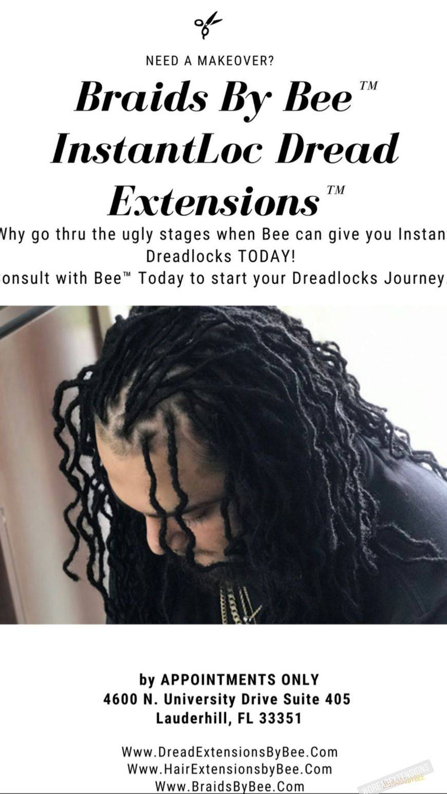 Braids By Bee is known to start dreadlocks with caucasian hair with her unconventional methods proven to work with clients from all around the world.  Bee starts dreadlocks with her InstantLoc Dread Extensions only done at Braids by Bee™