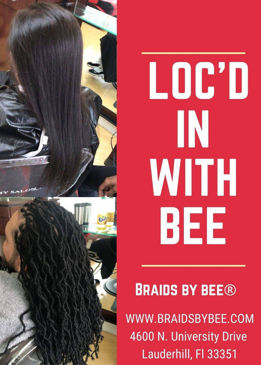 Braids by Bee starts dreadlocks on only type of hair textures with her unconventional ways of starting dreadlocks with extensions.  Bee calls her dread extensions InstantLoc Dread Extensions done to keep in permanently and grow out your own hair.