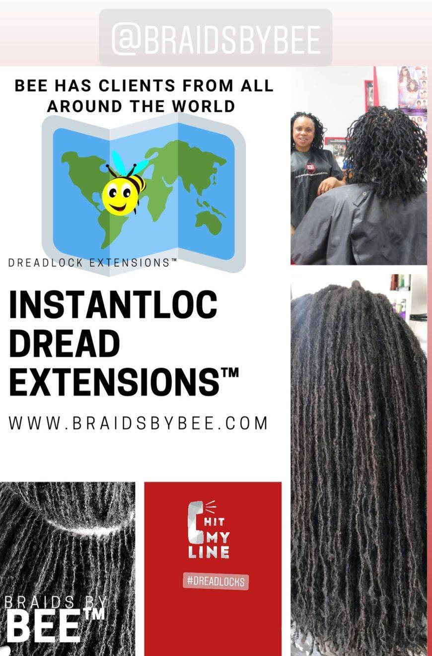 Braids by Bee is known to be the dreadlock Doctor repairs dreads for clients who have balding issues or thin dreadlocks or breakage in areas that needs to be repaired.  Bee does hair transformations like no other.