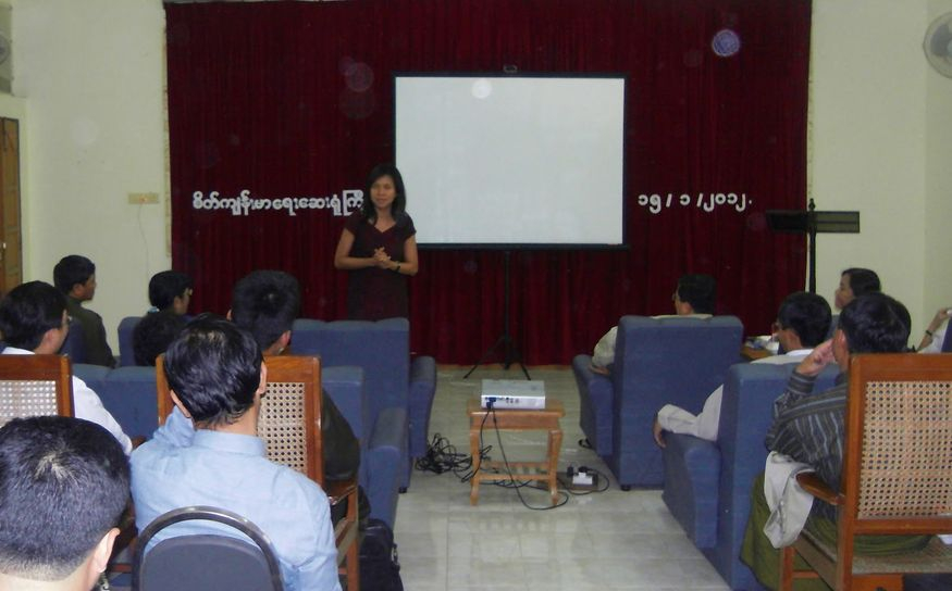 First meeting with the psychiatrists at Yangon Mental Health Hospital January 2012
