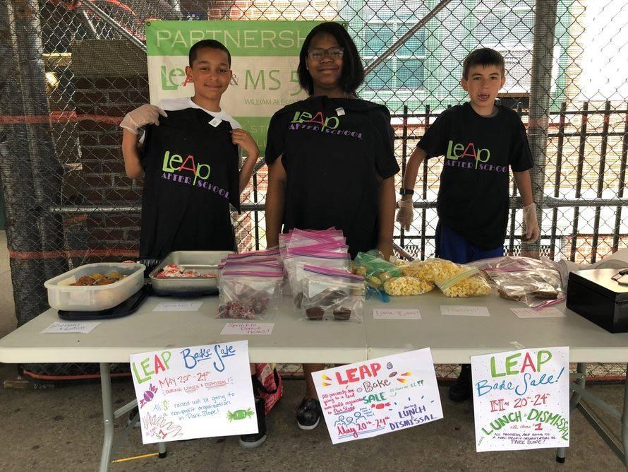 CCC Leadership Team Members pose during their bake sale