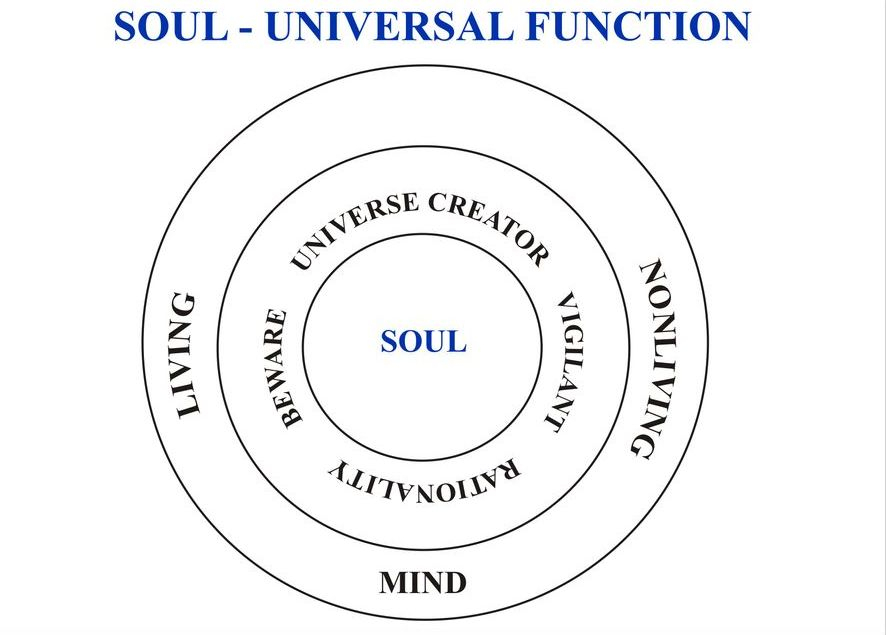 Soul is being as basic factor for creating and to be created. Soul is giving energy for all stages in life like hair growing, getting completeness, seeing improvement....... Soul Energy is Eminence Energy. (Sivamathiyin Jeevayogam)