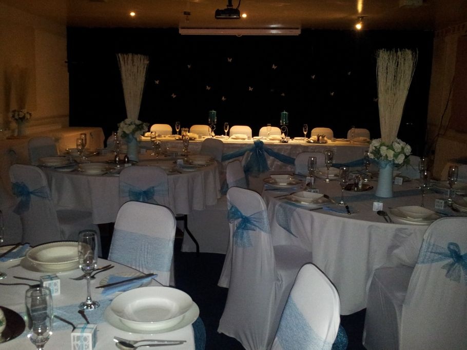 Function Room set up for a Small Wedding (40-50 people)