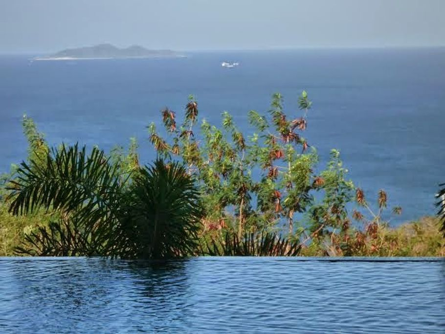 View of West Philippine Sea from the infinity pool in Nasugbu, Batangas