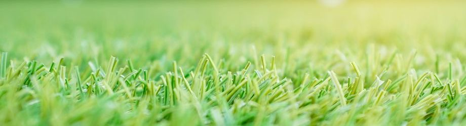 Artificial grass Artificial turf close up sunset