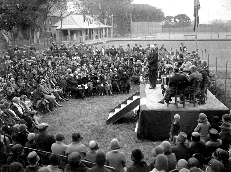 Opening of the Rosebank Playing Fields in 1935