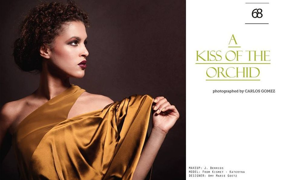 Linger Magazine   featuring the Lillian Silk Gown designed by Amy Marie Goetz fashion