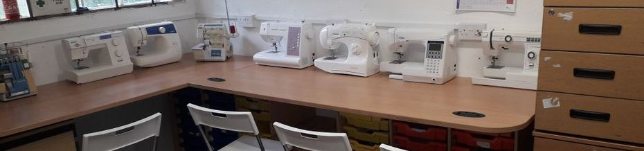 Industrial sewing machine repair training course facility