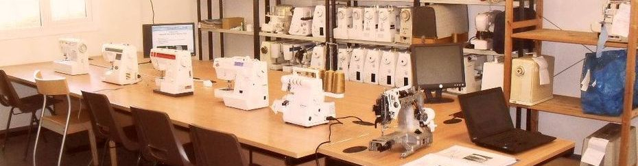 Sewing machine course classroom