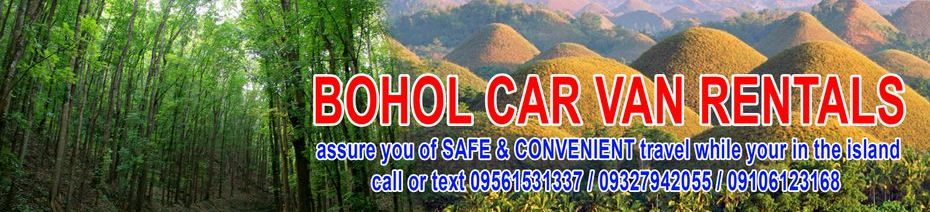 car van for hire in bohol