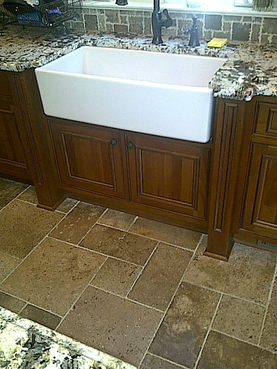 Farm Sink Cabinet Modification
