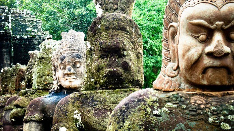 Tonle Om Gate of Angkor Thom, Siem Reap Province.