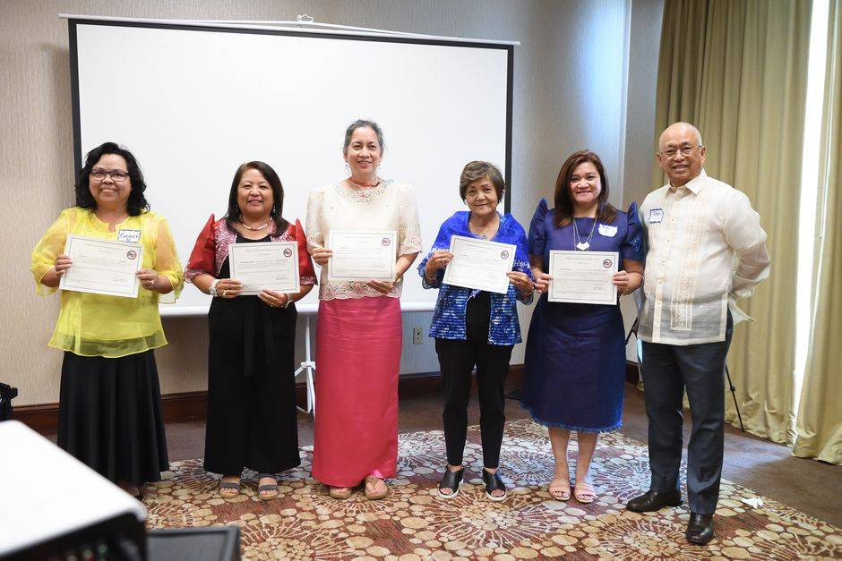 Induction of Georgia Chapter Officers headed by Ms. Grace Dian (August 7, 2021)