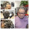 Braids by Bee does Dreadlock Extensions on straight combination of grey strands hair.